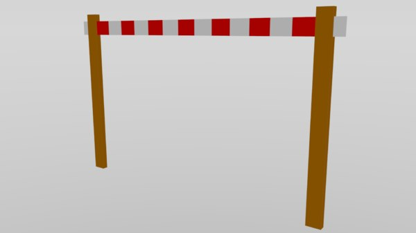 3D model white barrier