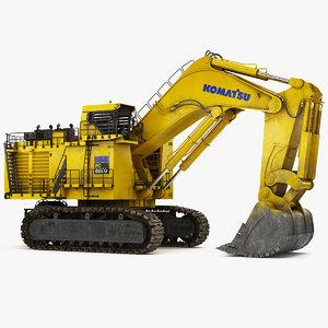 mining excavator komatsu pc8000-6 model