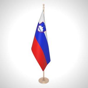 3D slovenia flag