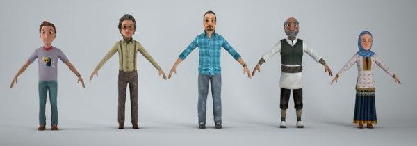 3D character bip model