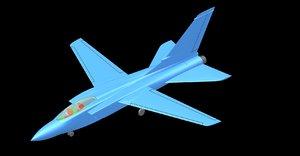 italian tornado aircraft solid 3D