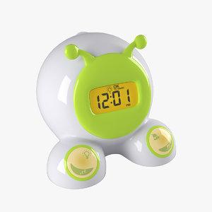 3D digital alarm clock model