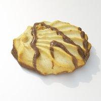 3D cookie dessert model