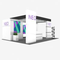 3D exhibition booth model