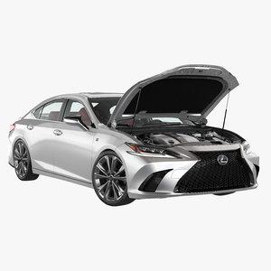 lexus es engine car 3D