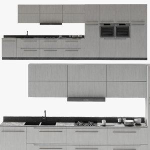kitchen poliform furniture 3D model
