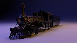 3D realistic train model