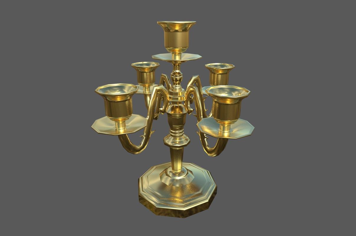 3D candlestick candleabra