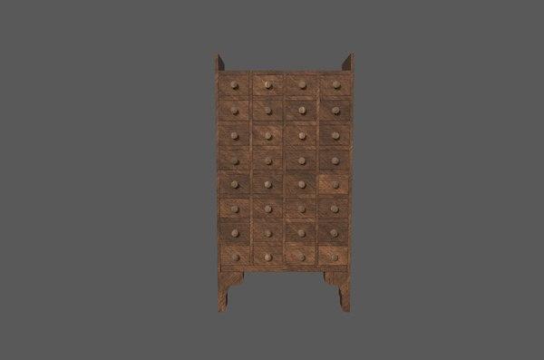 3D drawer medieval