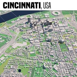 3D city cincinnati model
