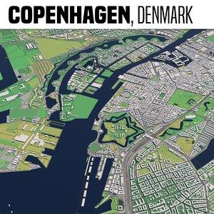 3D model city copenhagen