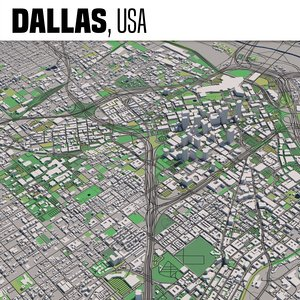 3D city dallas texas model