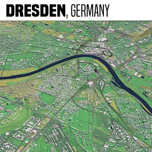 3D city dresden