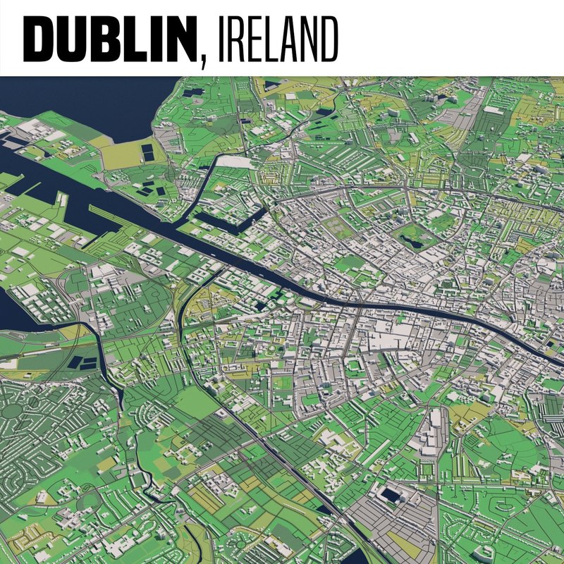 City Map Of Dublin Ireland.Dublin Ireland