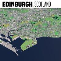 city edinburgh 3D model