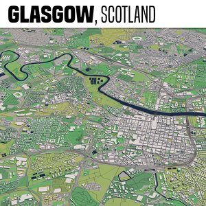city glasgow scotland 3D