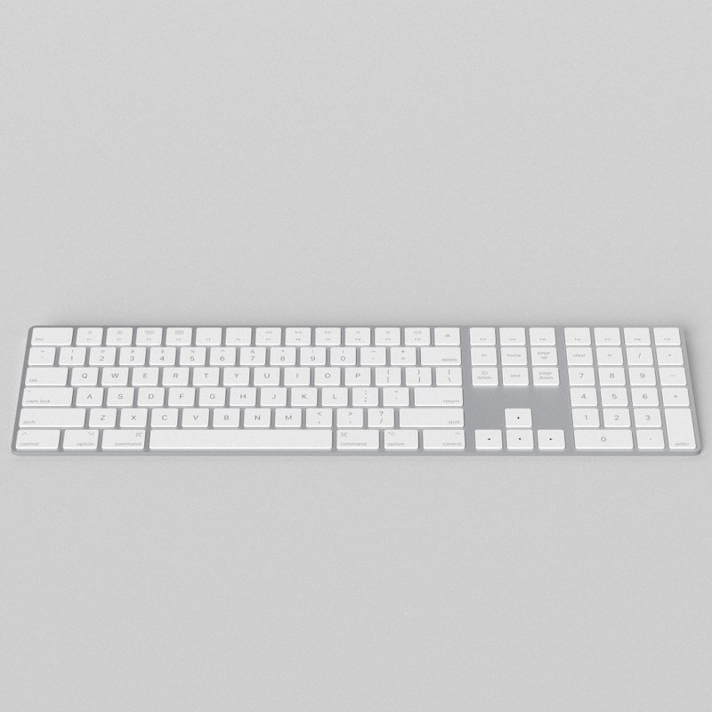 apple magic keyboard 2019 3D