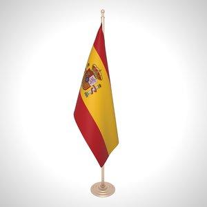 spain flag 3D model