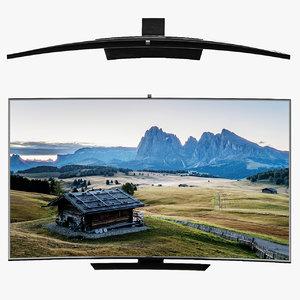 3D samsung curved smart tv model