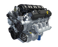 3d 2014 chevrolet silverado v8 engine model