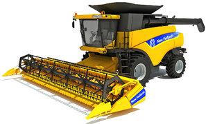 new holland combine 3d model