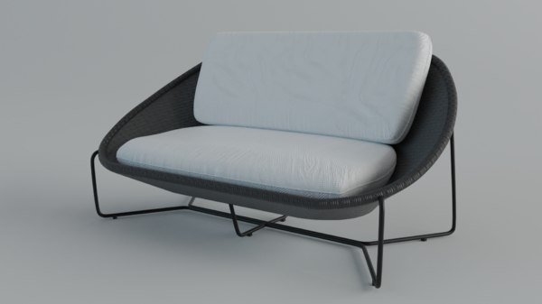 sofaoutdoor moroccoloveseat 3D model