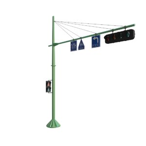 signal traffic lights road 3D model