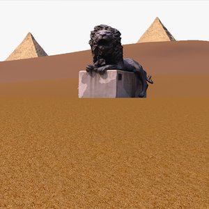 desert landscape scene model