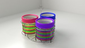 3D food canisters rack model