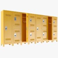 lockers modeled pbr 3D model