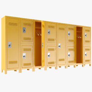 lockers modeled pbr 3D model