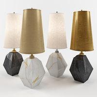 3D halcyon accent table lamp