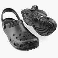 3D crocs coast clog black plastic