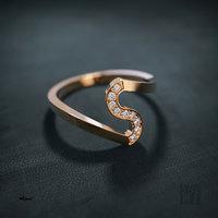 women diamond ring 3D model