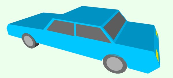 3D simple toy car