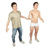 3D real cloths animation biped