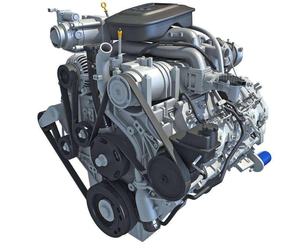 3d duramax diesel v8 turbo engine