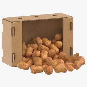 cardboard box 01 sweet 3D