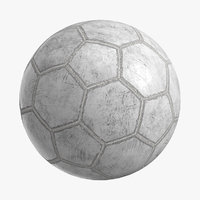 3D model realistic old soccer ball