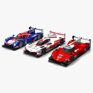 3D race car imsa lmp1 model