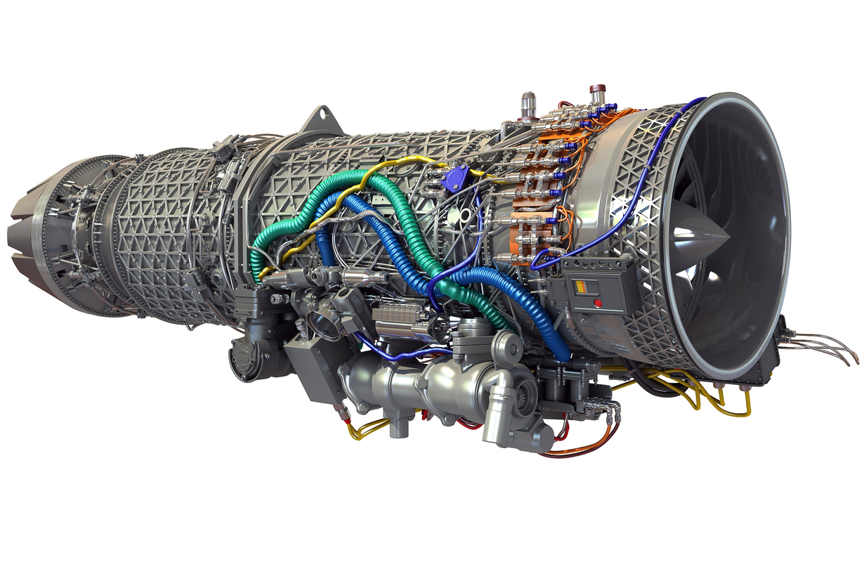 3d model eurojet ej200 military turbofan
