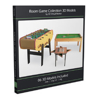 games room pool table 3D model