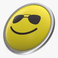 3D model push pin sunglasses face