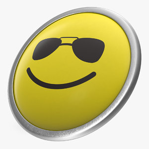 3D model push pin sunglasses face