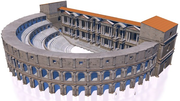 classical roman theater 3D model