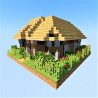 medieval house minecraft 3D model