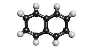 3D c10h8 molecule model