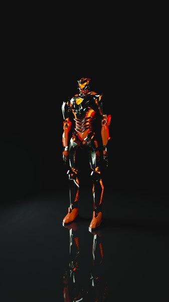 3D robot pacific rim