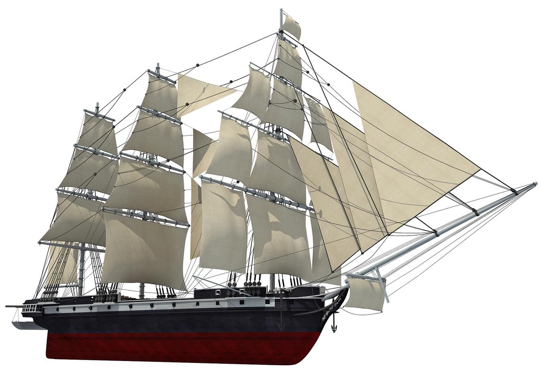 3d old sailing ship model