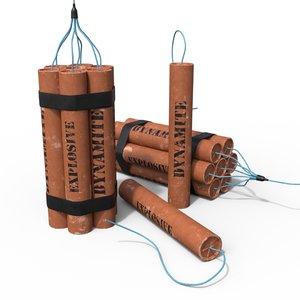3D model dynamite tnt explosive